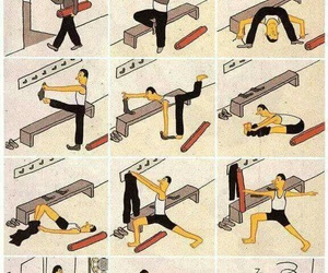 yoga, funny, and workout image