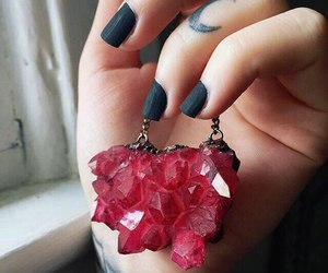 black, crystal, and red image