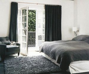 bedroom, interior, and bed image