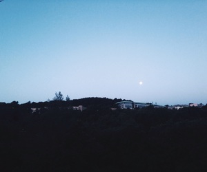 cannes, moon, and landscape image