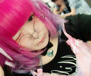 kawaii, Piercings, and pastel goth image