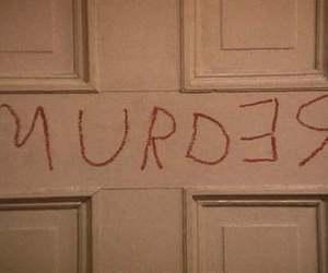 murder, grunge, and redrum image
