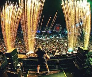 dj, festival, and lights image