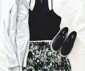 fashionable, hippie, and summer outfit image