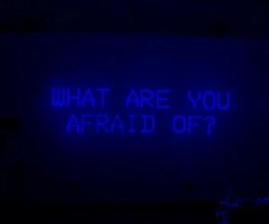 blue, aesthetic, and afraid image