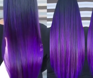 hair, long, and violet image