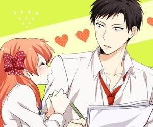 anime, couple, and gekkan shoujo nozaki kun image