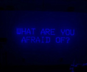 blue, aesthetic, and afraid image