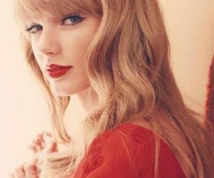 Taylor Swift, red, and beauty image