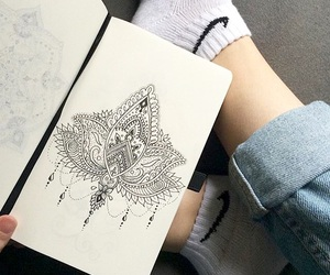 drawing, grunge, and love image
