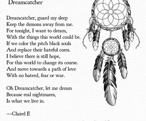 dreamcatcher, inspiration, and poem image