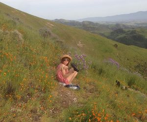 fashion, girl, and landscape image