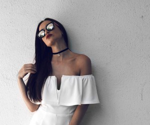 chest, necklace, and sunglasses image