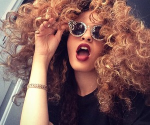 curls, hair, and melanin image