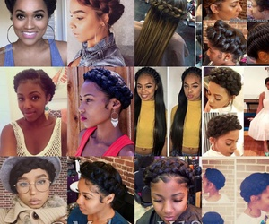 hair, hairstyle, and halo braid image