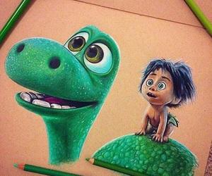 dinosaur, green, and movie image
