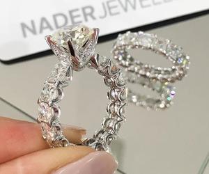 ring, diamonds, and luxury image