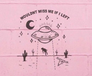 pink, alien, and quotes image