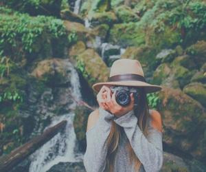 girl, camera, and nature image