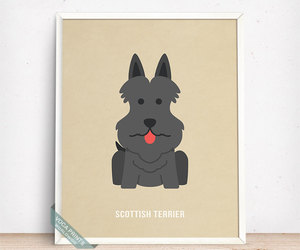 etsy, wall art, and scottie image