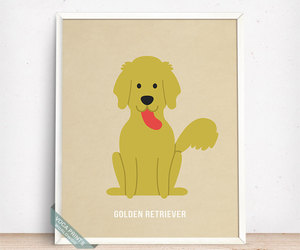 etsy, fathers day gift, and golden retriever image