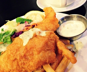 fish and chips, food, and French Fries image