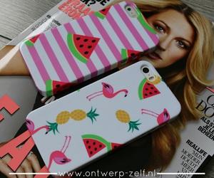 ananas, flamingo, and phone cover image