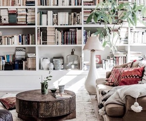 home, interior, and books image