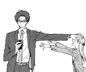 couple, manga, and boy image