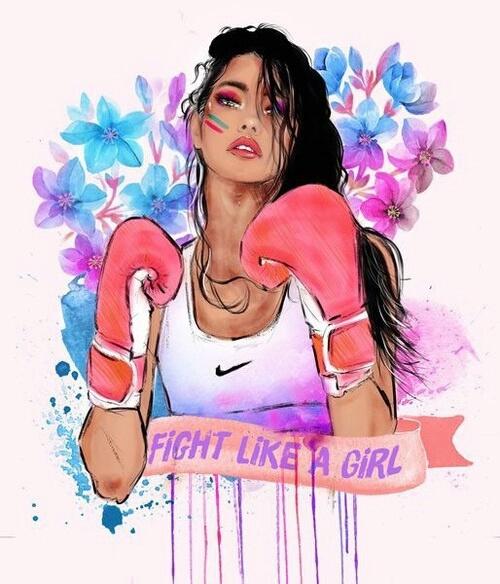 Fight like a girl by Nike on We Heart It