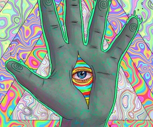 trippy, psychedelic, and eye image