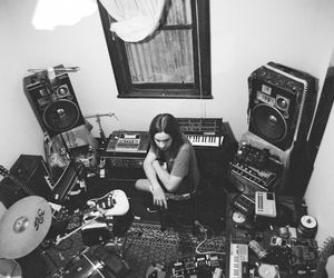 drums, instrument, and tame impala image