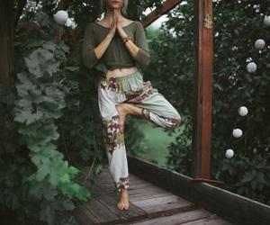 girl, sport, and yoga image