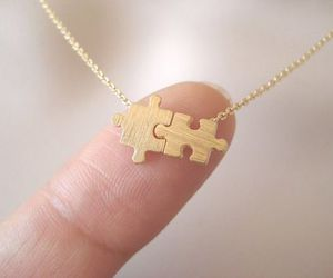 cute, necklace, and puzzle image