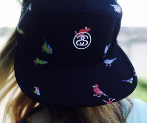 girl, streetwear, and stussy image