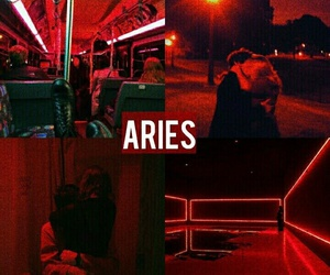 aries, astrology, and red image