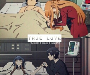 sword art online, love, and anime image