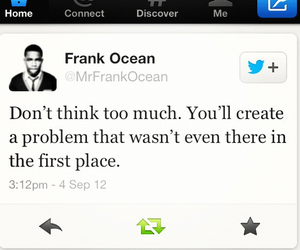 quote, frank ocean, and problem image