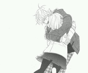 hug, manga, and anime image