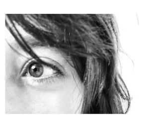 black and white, eyes, and Psycho image