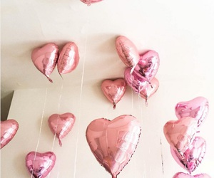 pink, cute, and balloons image