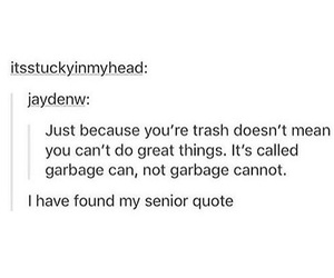 can, funny, and garbage image