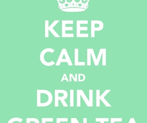 green tea and keep calm image