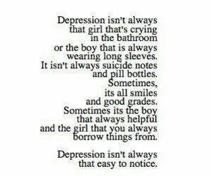 depression, sad, and text image