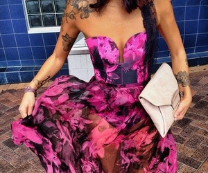 dress, fashion, and tattoo image