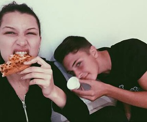 bella, brother, and pizza image