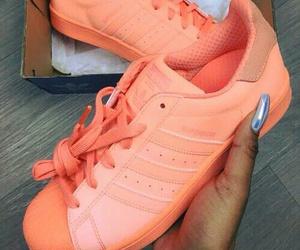 adidas, shoes, and orange image