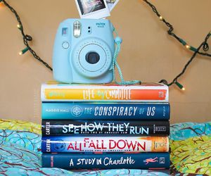 books, foto, and instax image