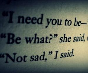 book, text, and sad image