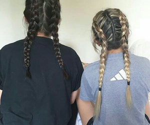 braids, brunette, and tumblr image
